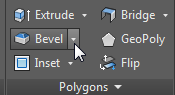 Drop down for Bevel settings